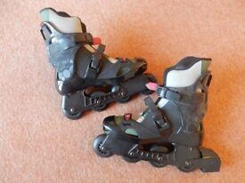 Bauer inline skates, size 8 - hardly used