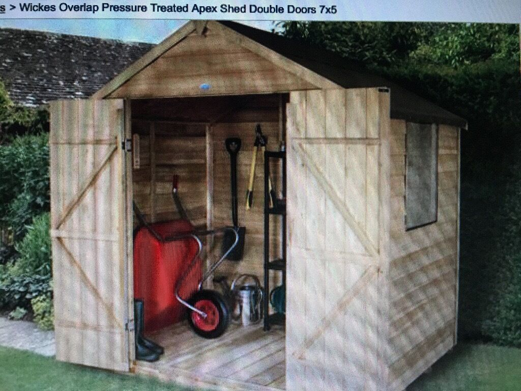 Garden Shed 7x 5 Brand New