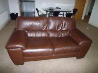leather 2 piece suite