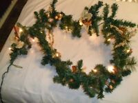 1.7 Meter Garland with Lights & Frame Swags