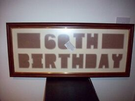60th wooden picture frame (NEW)