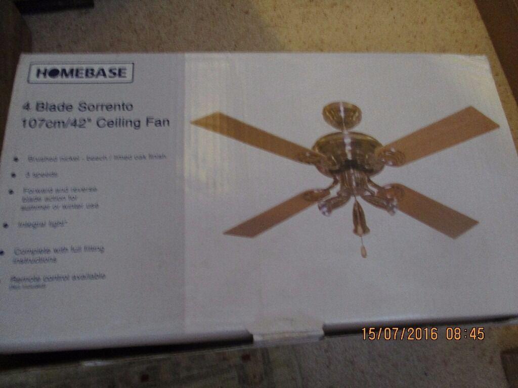 Homebase 4 blade sorrento 42107cm ceiling fan in west malling homebase 4 blade sorrento 42107cm ceiling fan aloadofball Images