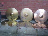 Cymbals - Various Quality Budget Hi hats and Ride Cymbals - Zildjian, Meinl, Sabian