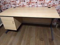 Large office desks with drawers, 160cm L, high quality and great condition