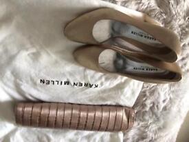Karen Millen Shoes and Clutchbag