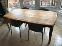 NEW AND UNUSED Habitat Quinn 8 Seater Solid Oak Dining Table (cost £1200 new)
