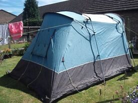 SunnCamp Silhouette 200 - 2 man tent with cooker & other accessories