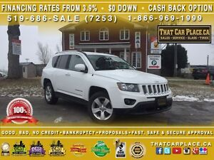 2015 Jeep Compass North-$68/Wk-Clean Carproof-4WD-AUX-Low Price