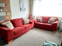 3 Seater and 2 Seater Cloth Sofa For Sale