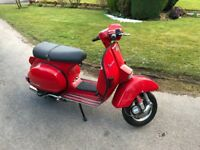2004/04 Piaggio Vespa PX 125cc - Harry Barlow Built Stage 4 Tuned 220cc engine