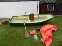 Mirror sailing, rowing, outboard dinghy / tender