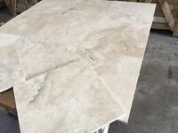 Polished royal Marfil marble tile 467x557x12mm