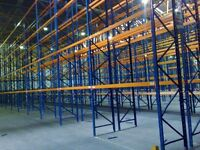 job lot 50 bays , will split , of redirack pallet racking AS NEW( storage , shelving )