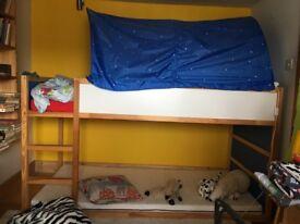 IKEA KURA BED & BED TENT INC 2 90 X 200 MATTRESSES FROM SMOKE & PET FREE HOME