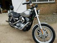 Harley Davidson 1584cc Dyna Super Glide 09 - 7k miles new MOT