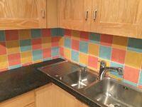 "'Harlequin' Ceramic wall tiles 6"" square"