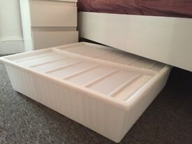 "IKEA Underbed storage box, white - 25 5/8x27 1/2 "" (65x70 cm)"