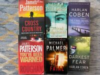 Books from Patterson, Palmer, Coben.