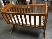 Wooden Gliding Swinging Crib
