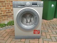 Silver Hotpoint Aquarius washing machine