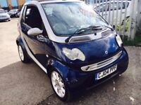 SMART CITY COUPE 0.7cc PETROL AUTOMATIC 2004 50000 MILES AIRCON CONVERTIBLE