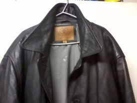 Ciro Citterio mens midd length leather larger jacket.
