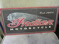 INDIAN MOTORCYCLE DECORATIVE TIN SIGN $30.00