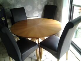 Pine table and chairs in good condition for sale any reasonable offer for quick sale