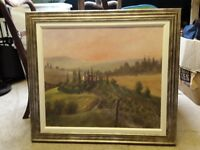 Beautiful framed italy painting