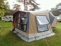 Camplet classic plus trailer tent with side annexe and sun canopy