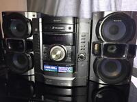 SONY 3 disc changer super bass stereo speaker