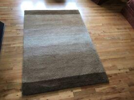 Handmade deep pile rug BELFAST NEWCASTLE can meet deliver browns creams beige 120cms x 180cms