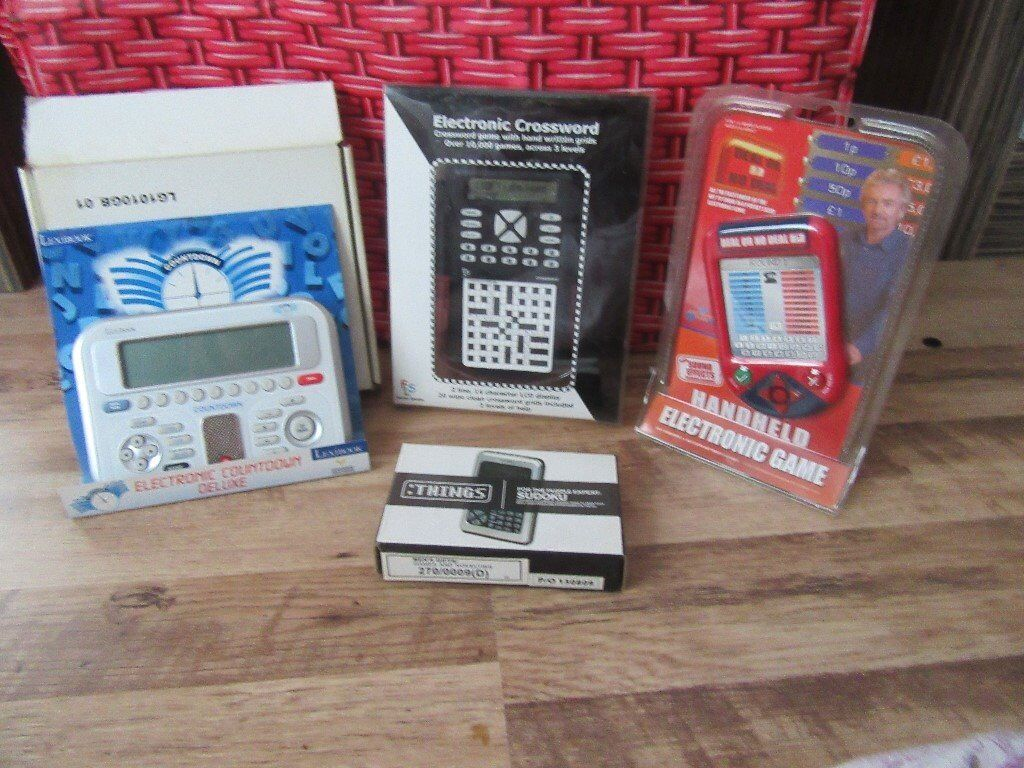 BNIP Deal or No Deal, Crossword, Sudoku & Countdown Deluxe Electronic games x 4