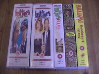 Videos VHS x 7. Bottom, Complete Series 2, 3 BBC + Bottom Smells, Fluff + Hooligans Island. Uncensor