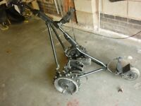 Powakaddy golf trolley with almost new 18 hole Lythium battery