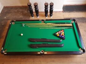6ft Pool Table with Accessories Used