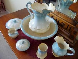 Antique Stoke on Trent Devon Ware Feildings England 9Pc Wash Set Oakville / Halton Region Toronto (GTA) image 1