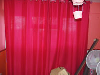 Pink full length curtains