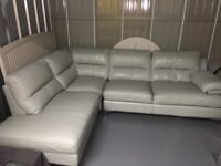 DFS double leather corner sofa