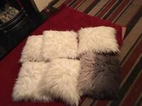 6 fluffy cushions from next