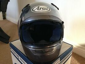 "Graphite Grey Arai Motorbike Helmet - Mint Condition. Size 7"" - 7 1/8"" (57-58cm)"