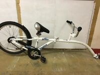 Bicycle Trailer for sitting and riding