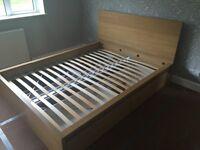 King size IKEA Malm bed