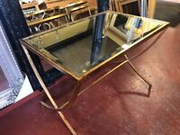 New gold mirrored top small coffee table £69