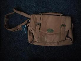 Brand new with tags tan satchel style bag
