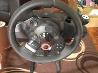 Logitech Driving Force GT Steering Wheel and Stand