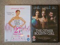 2 DVDs: '27 Dresses', 'The Other Boleyn Girl'
