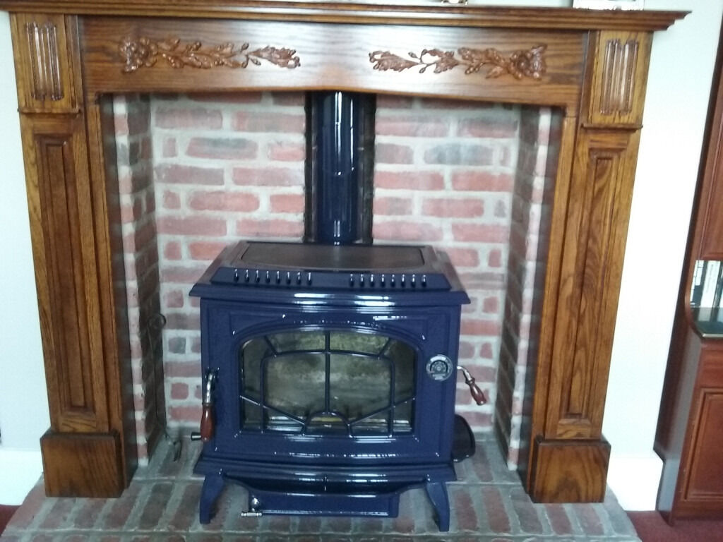Stove Multi Fuel Large Blue Enamel In Hexham