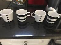 Coffee mugs- set of four
