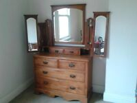 Victorian dressing table / chest f drawers.